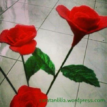 bunga dari sabun